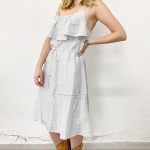 Noa Noa Ruffle Slip Grey Silk Dress Size Small
